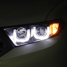 2013 toyota highlander limited accessories xenon 2011 2013 toyota highlander 3d led drl halo projector