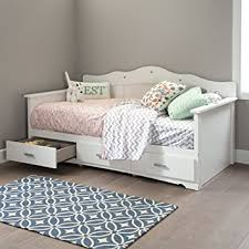 White Daybed With Storage South Shore 39 Tiara Daybed With Storage