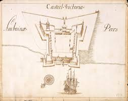 Birds Eye View Map File Amh 4700 Na Bird U0027s Eye View Map Of Victoria Castle At Ambon