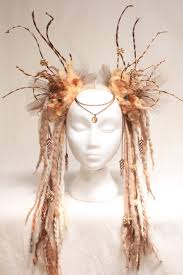 Shopping Resources For Bohemian Charm by Headdress Tribal Headdress Goddess Queen Earthy Wig Mother Nature