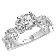 twisted band engagement ring 18kt twisted band engagement ring