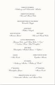 Sample Of A Wedding Program Wedding Programs Wedding Program Wording Program Samples Program