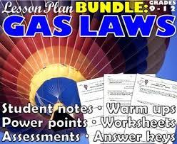lesson plan bundle gas laws by msrazz chemclass tpt