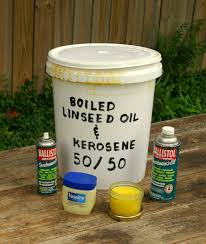 ax prep sharpening care part three the woods life head protection left to right 1 ballistol sportsman s oil spray 2 boiled linseed oil kerosene mixture 3 petroleum jelly 4 raw linseed oil