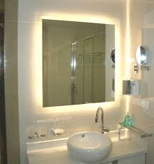 bathroom mirror with lights behind bathroom mirror led lights with design ideas bagen yellow back and
