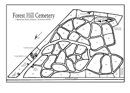 Madison Wisconsin Map by Maps Forest Hill Cemetery A Guide
