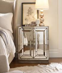 Small Round Pedestal Side Table Furniture Ivory End Table Small Mirrored Nightstand Mirrored
