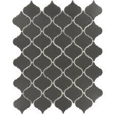 arabesque black porcelain arabesque tile matte la 4