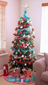 southern blue celebrations red u0026 turquoise christmas decorating ideas