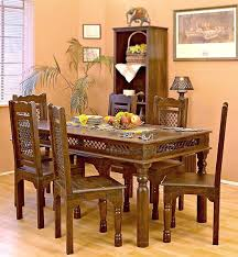 Jali Dining Table And Chairs Jali Dining Set Solid Wood Furniture Buy Dining Table
