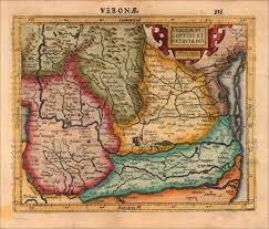 Map Northern Italy by Decorative Map Of The Region Of Verona And Patavia In Northern