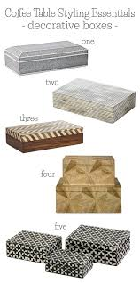 Coffee Table Box Coffee Table Styling Tips Essentials Driven By Decor