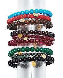 bead bracelet set images Sydney evan beaded bracelet sets with charms jpg