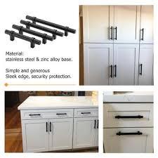 black pulls for white kitchen cabinets 5 pack matte black cabinet pulls and drawer handles lst16bk