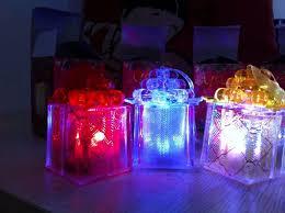2017 led christmas light glow gift box in christmas tree holiday