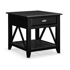 value city furniture end tables plantation cove coastal end table black value city furniture and