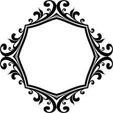 clipart decorative ornamental flourish frame aggrandized 9