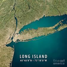 Map Of Long Island New York by New York Long Island 3d Render Satellite View Topographic Map