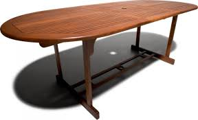 Wood Patio Dining Table by Strathwood Sheffield Hardwood Oval Expandable Table Patio Table