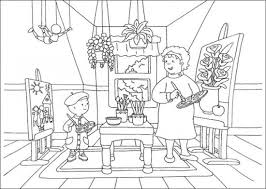 caillou gilbert coloring pages coloring pages free printable