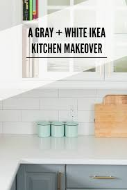 Ikea Countertop A Gray And White Ikea Kitchen Transformation The Sweetest Digs