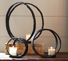 Large Candle Holders For Fireplace by Ring Votive Holder Pottery Barn