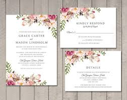 wedding invitations details card floral wedding invitation rsvp details card ca0761 in cards
