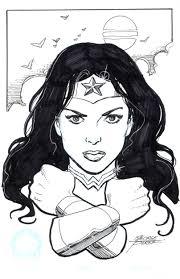 wonder woman new 52 version hero initiative sketch by george