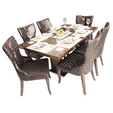 artina 6 seater marble top dining table set woodys furniture