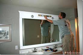 framing bathroom mirror with molding molding around mirror beechridgecs com