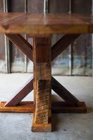 round reclaimed wood table reclaimed wood farm table