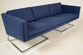 floating couch mid century modern floating chrome sofa in the manner of milo
