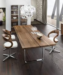 Leather Dining Chair With Chrome Legs Dining Room Interesting Small Dining Room Decoration With White