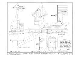 file details framing of sloping post b framing of bridge end at