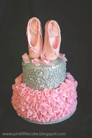 my pink little cake pink ruffles and sequins ballerina cake