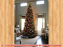 12 ft artificial slim tree w1100 lights stunning