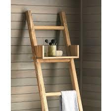 teak ladder with shelf vivaterra