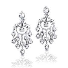diamond chandelier earrings king jewelers diamond chandelier earrings king jewelers