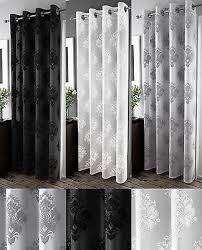 Curtains Ring Top Anika Velvet Damask Design Voile Curtain Panel Voile Net Curtains