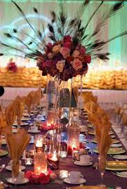 peacock centerpieces floral wedding centerpieces with candles and peacock