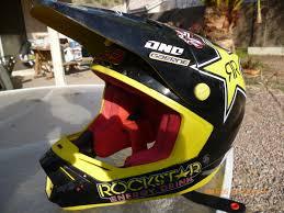 rockstar motocross helmet sold genuine signed jason anderson helmet rockstar energy