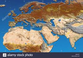 Map Of North Africa And Middle East by Satellite Image Of Europe North Africa The Middle East India And