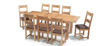 Extending Dining Table And 8 Chairs Constance Oak 180 230 Cm Extending Dining Table And 8 Chairs