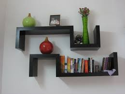 furniture simple minimalist wall book shelves design with black