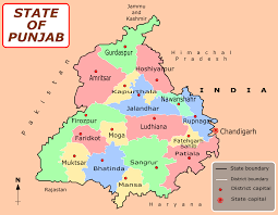 India On A Map File Punjab District Map Png Wikimedia Commons