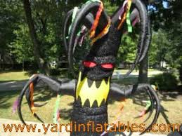 gemmy animated airblown inflatable halloween shaking tree youtube