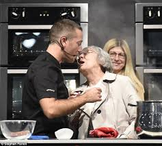 what to get an elderly woman for christmas gino d co shares with elderly woman during live cooking