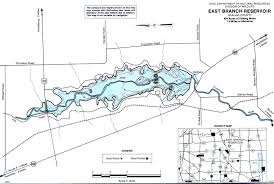 Map Of Northeast Ohio by East Branch Reservoir Fishing Map Northeast Ohio Gofishohio