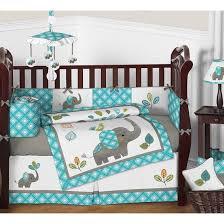 sweet jojo designs mod elephant crib bedding collection