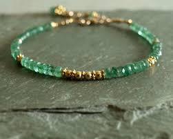 emerald bracelet images Emerald bracelet gold beads zambian emeralds gift for her etsy jpg